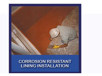 corrosion reistant lining installation